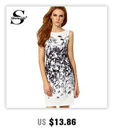 Sheinside Ladies Summer Mini Dresses Work Wear Office Multicolor ... e1b3023ec