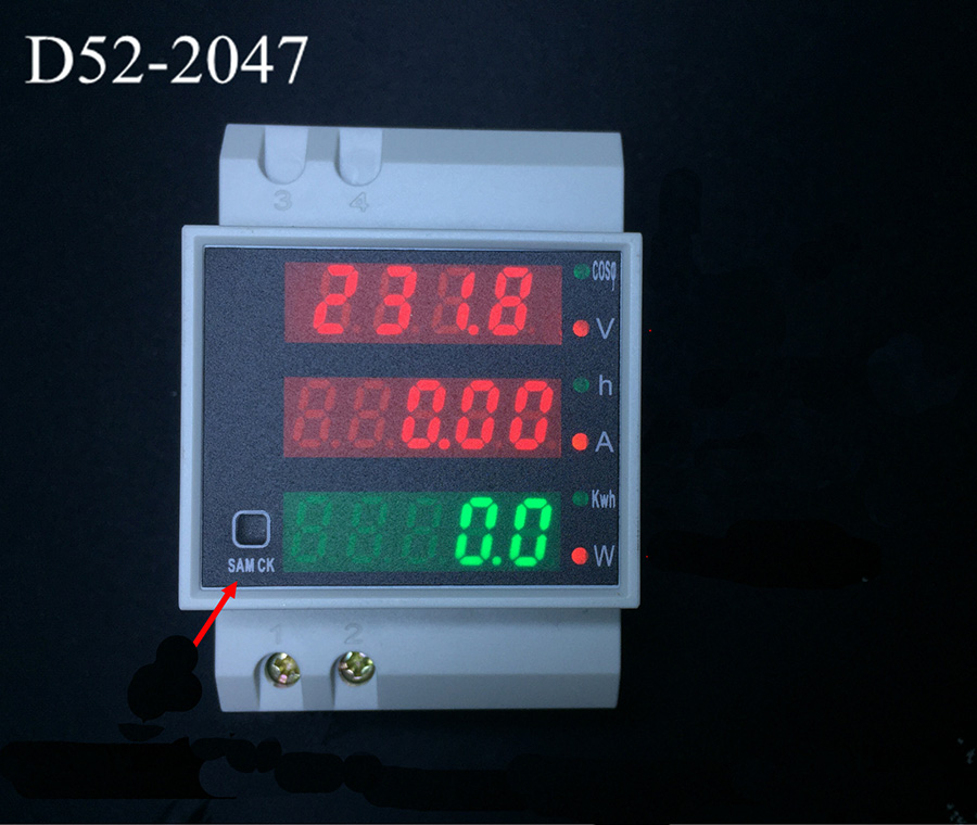 купить D52-2047 Power meter energy meter Voltmeter Ammeter LED Display Active Power Factor Voltage Volt Current Meter AC80-300V 0-100A по цене 1185.69 рублей