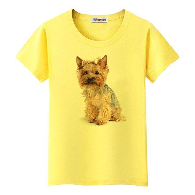 1BGtomato Cute 3D dog printing Shirts Girls lovely Animal Tops hot sale Brand New Casual T-shirt women funny 3D dog tshirt 2