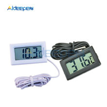 LCD Digital Thermometer for Freezer Temperature -50~110 Degree Refrigerator Fridge Thermometer Temperature Meter 1M Probe