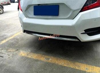 For Honda Civic 10th Sedan 2016 2017 ABS Chrome Rear Bumper Protector Cover Trim New car accessories