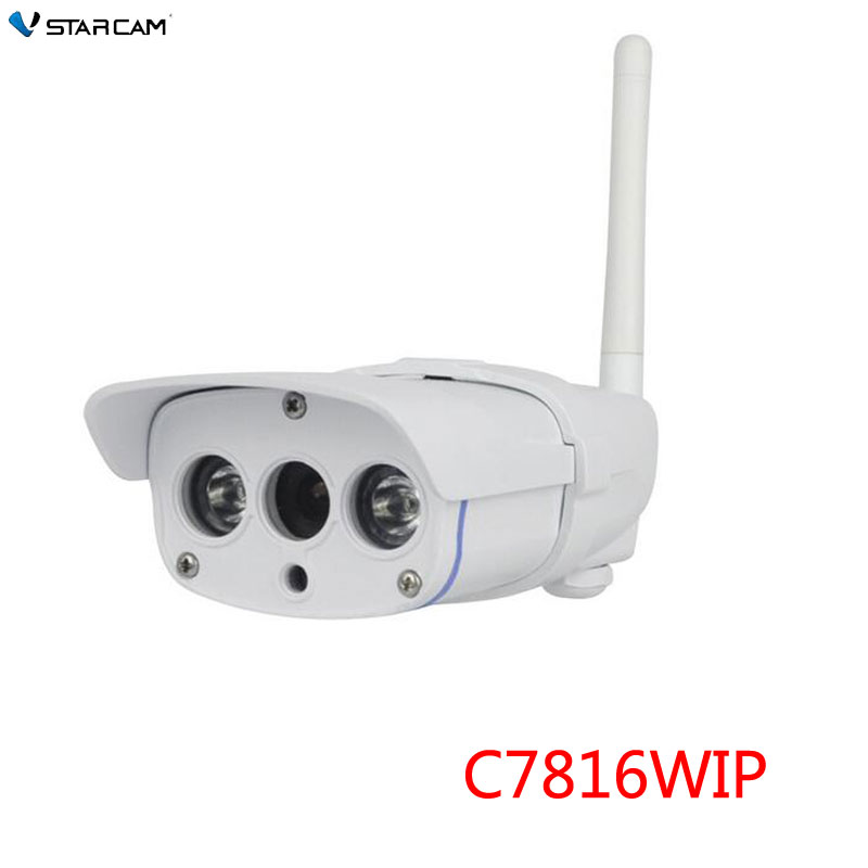 VStarcam CCTV IP Camera wifi Webcam Outdoor Wireless security camera IP67 20M IR range support 128G SD Card,SN: C7816WIP