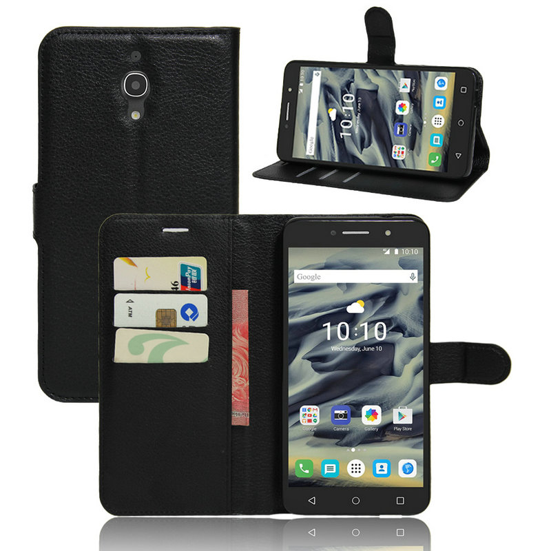 Luxury Flip Wallet PU Leather Cover For <font><b>Alcatel</b></font> One Touch pixi4 pixi 4 6.0inch Stand Function And Card Holder <font><b>Phone</b></font> Case JC1