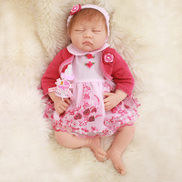 OtardDolls Doll 20inch bebe reborn dolls 50cm Silicone Vinyl Soft Lifestyle Soft Bjd Princess Doll Reborn Toys For Girls Gifts