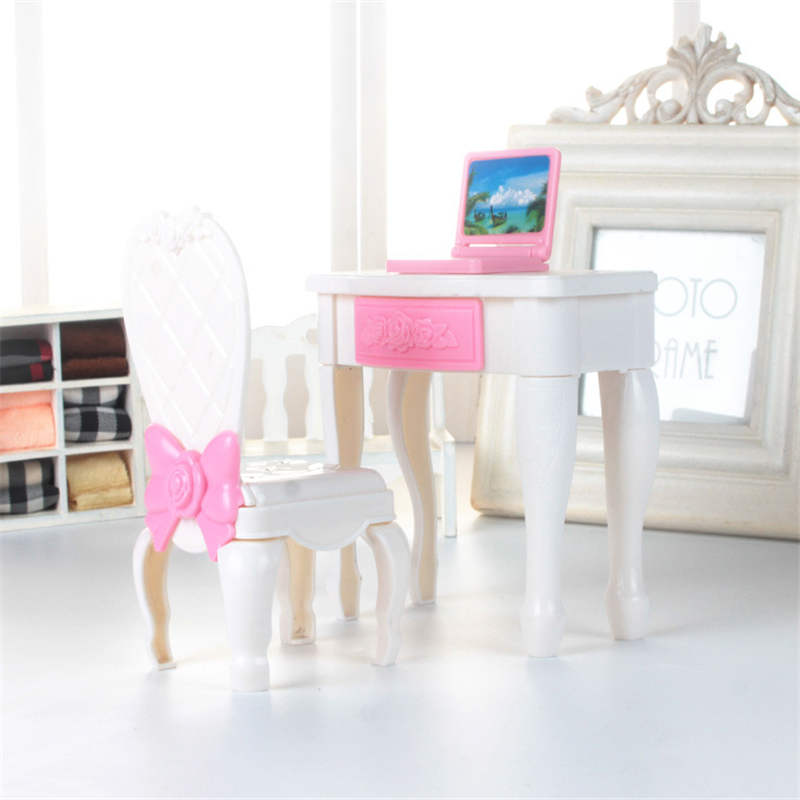 Computer desk/chair/laptop toy Suit lols dolls Accessories for Big Sister Baby lols Dolls DIY Kid Birthday Christmas Gift toy