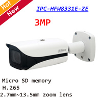 Dahua 3MP ИК Пуля сети камера IPC HFW8331E ZE день/ночь 2,7 мм ~ 13,5 зум объектив расстояние 50 м поддержка SD карты и PoE +