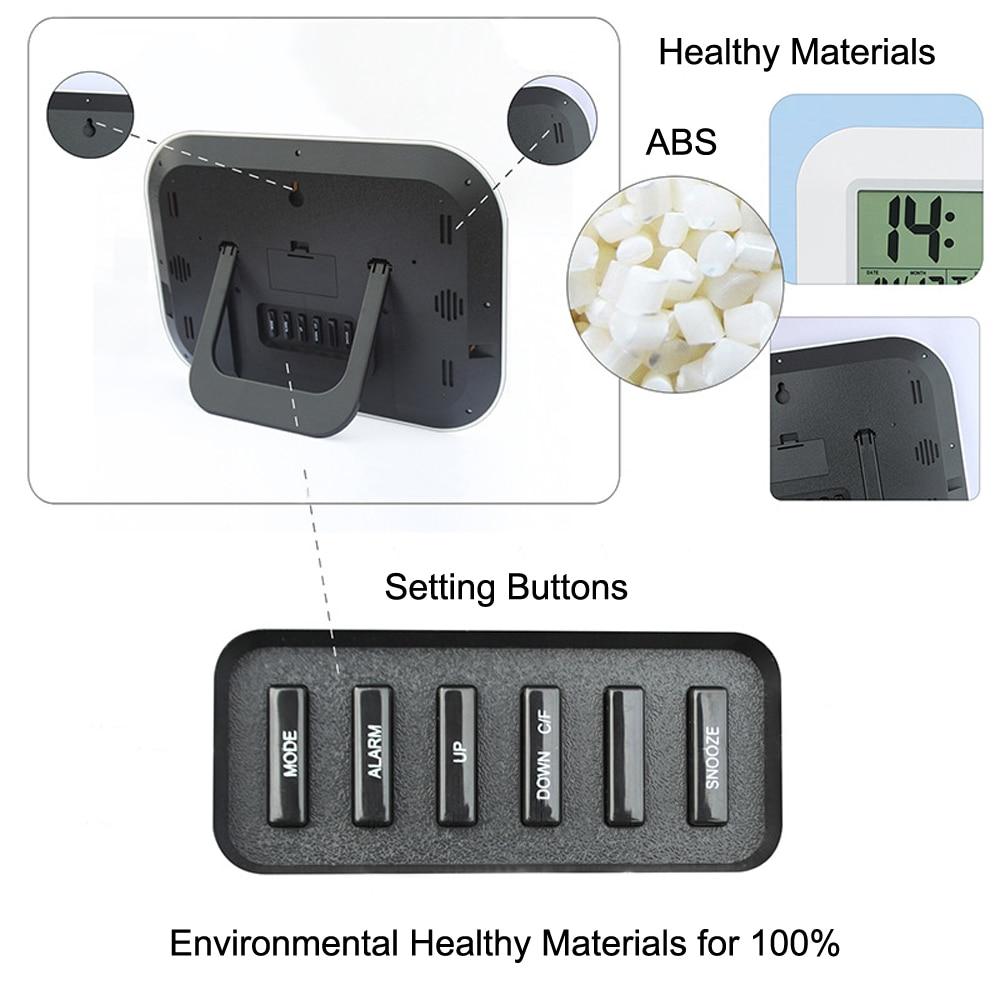 Ψηφιακό ψηφιακό ρολόι ρολογιών - Διακόσμηση σπιτιού - Φωτογραφία 4