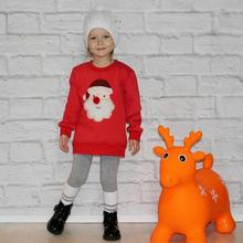 hot deal buy 2018 winter merry family matching outfits christmas sweater cute deer children clothing kid t-shirt add wool warm family clothes