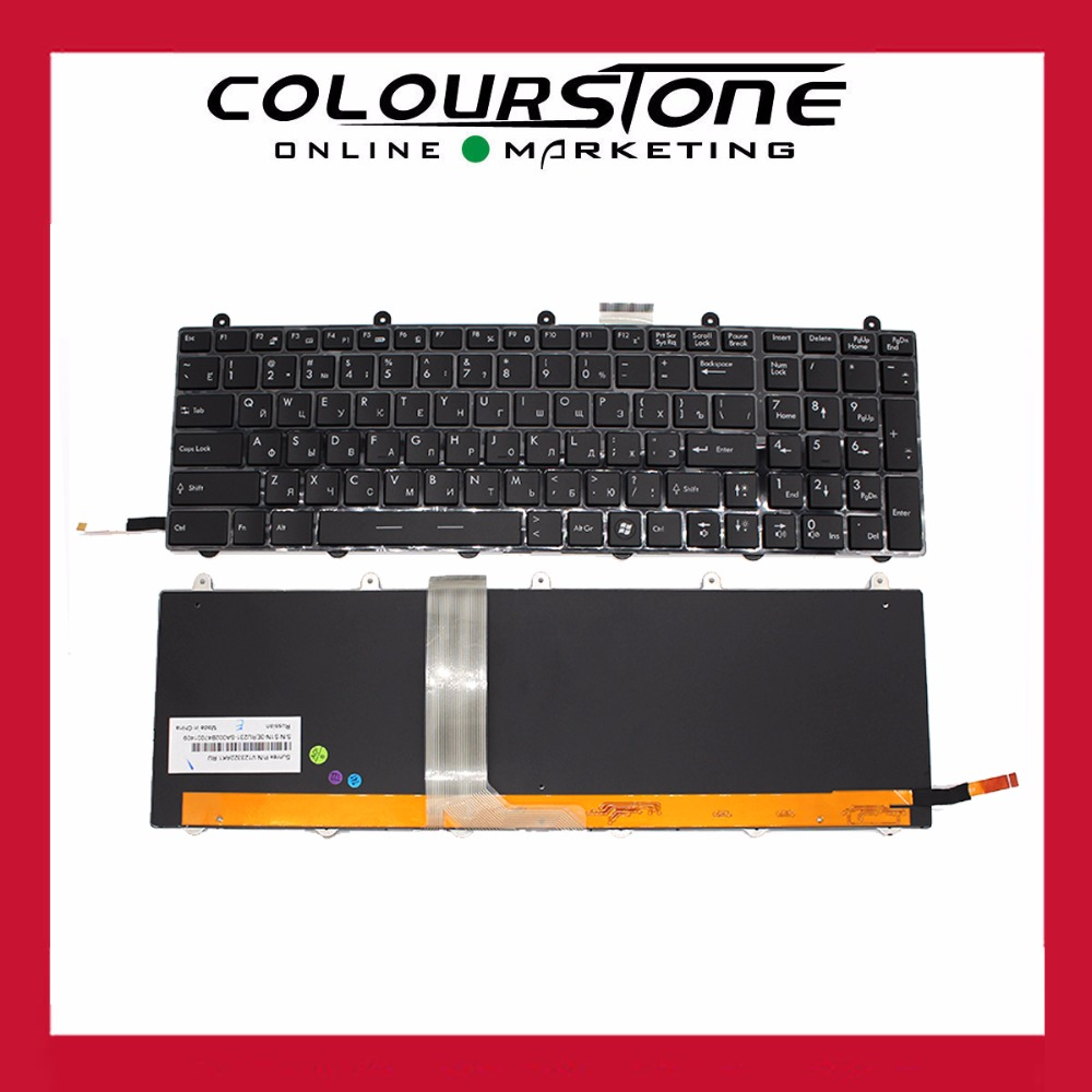 For MSI GE60 GE70 GX60 GX70 GT60 GT70 GT780 GT783 MS-1762 For Clevo P150EM P170EM P370EM P570WM Russian Laptop backlit keyboard цена
