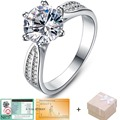 Chegada nova 3ct 925 sterling silver Jewelry anel de noivado clássico 6 garras 9 mm AAA cristal setas CZ Diamond Ring jóias 108