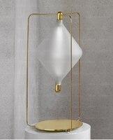 Современная американская гостиная украшение Гонконг стиль кабинет спальня прикроватная стеклянная вытяжка маленькая настольная лампа [на
