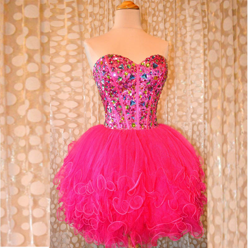 Compare Prices on Hot Pink Homecoming Dress- Online Shopping/Buy ...