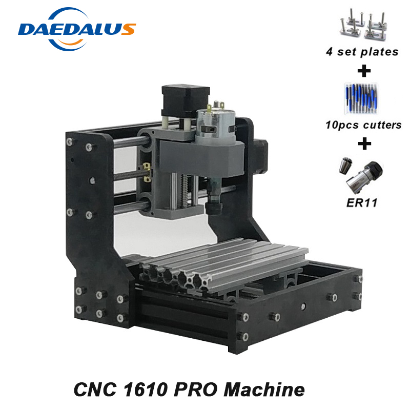 цена CNC 1610 PRO Machine 3 Axis GRBL Control Engraving Machine Mini DIY PCB Wood Carving Engraver ER11 Wood Router Spindle Motor онлайн в 2017 году