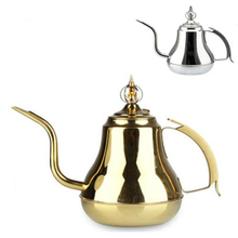 304 Stainless Steel Pot Coffee Pot Palace Long Flagon Small Mouth Pot Large Pot Cooker Pot High-end Flat Kettle Free Shipping eagle mouth stainless steel vacuum pot kettle black silver 1500m
