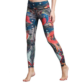 Women Printed Yoga Pants Sport Workout Running Leggings Power Flex Leggins Sport Women Fitness Yoga Leggings 1