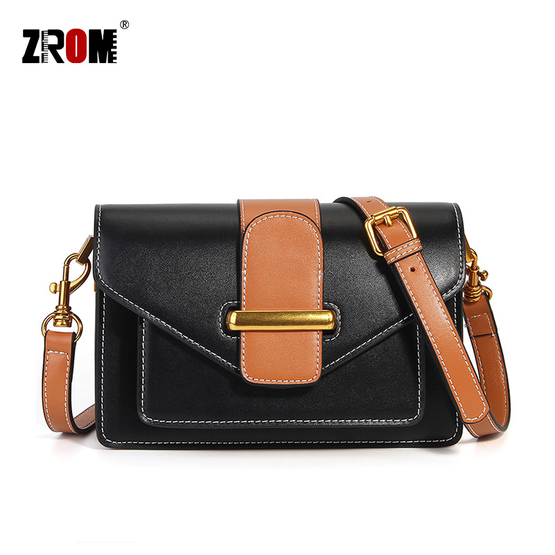 ZROM Brand New Fashion Shoulder Bags Luxury Genuine Leather Crossbody Real Soft Cow Leather Handbags Lady