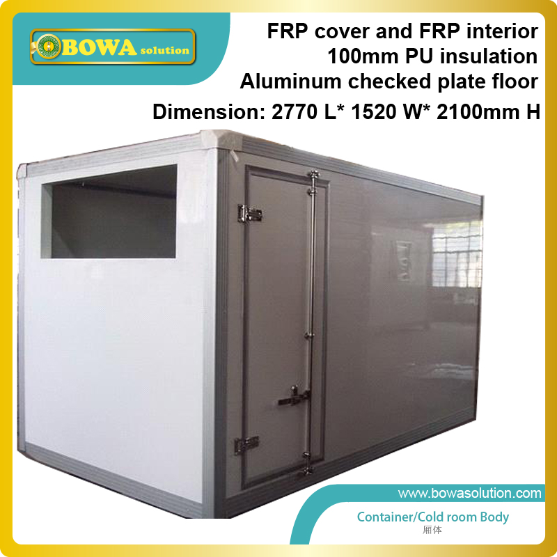 7m3 Refrigerated Trailer Body Includes FRP Cover, 100mm PU