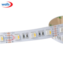 5m 5050 4-in-1 LED RGBW RGB+Warm Cool White Strip 60LEDS/M Black PCB 12V