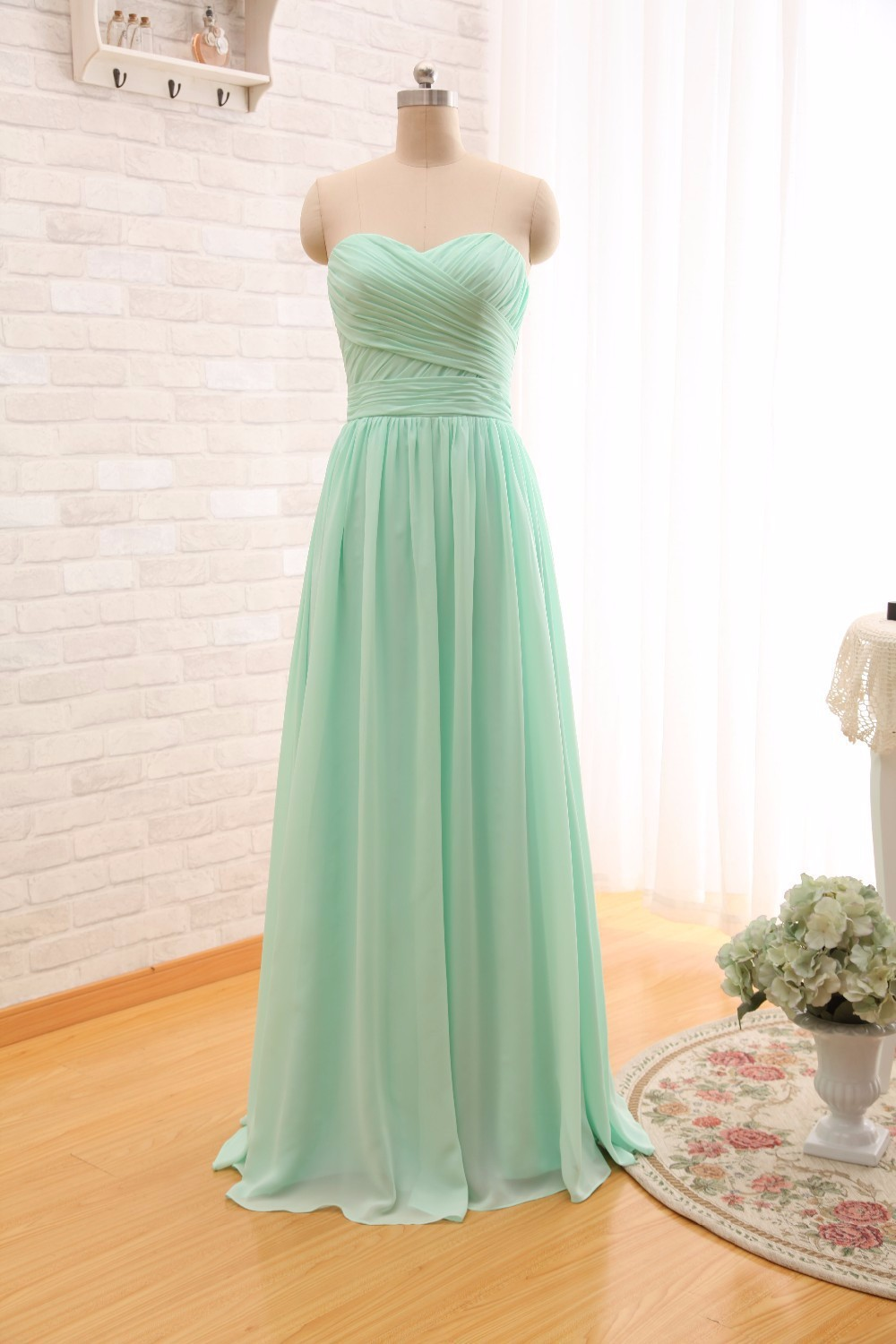 Ever-Beauty-Mint-Green-Long-Chiffon-A-Line-Pleated-Bridesmaid-Dress-Under-50-Wedding-Party-Dress
