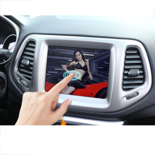 lsrtw2017 car dashboard navigation screen protective toughened film for jeep compass 2016 2017 2018 2019