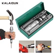 KALAIDUN Impact Driver Screwdriver Set 13 Pcs Ratchet Bit Kit Hex Torx Bits Handle Multitools Heavy Duty Shock Socket Screw