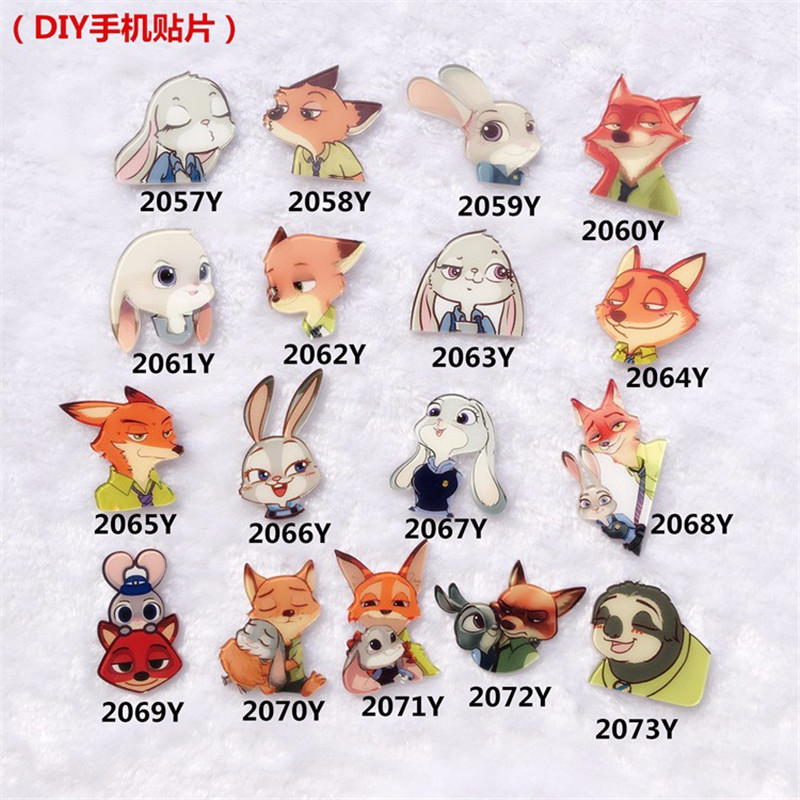 Cunning Fox Rabbit Cute Cartoon Zootopia Brooches Charm Brooch Pins Accessories For Women XZ27