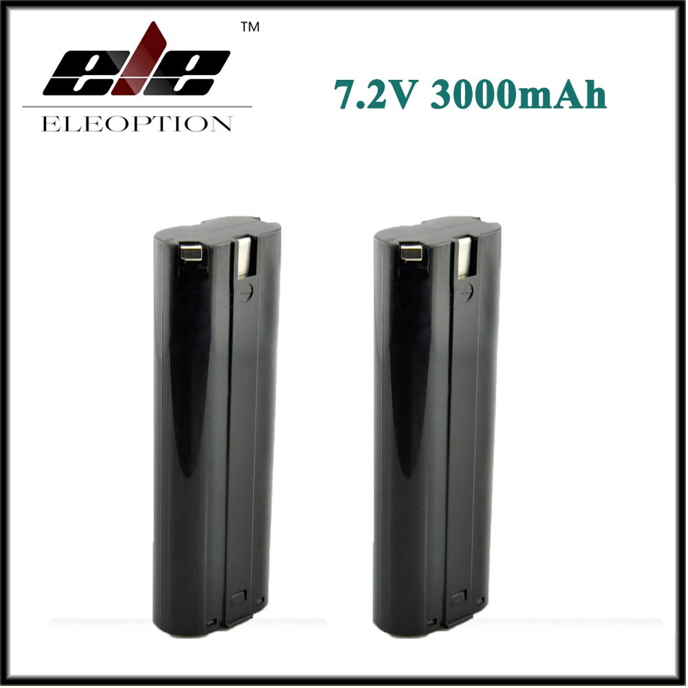 2x Eleoption 3000mAh 7.2V Ni-MH Rechargeable Battery For MAKITA 7000 7002 632002-4 191679-9 192532-2 eleoption high quality 12v 3000mah ni mh battery for makita 1234 1235 1235f 193138 9 192698 a