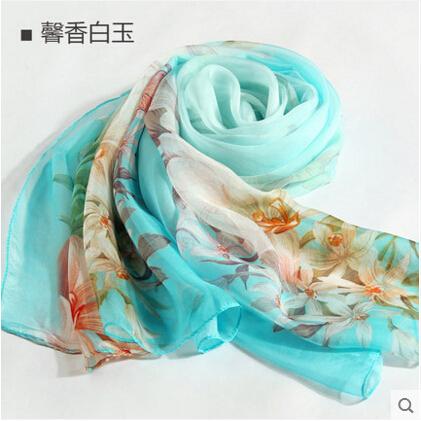100% lenço de seda de alta qualidade seda xale mulheres scarf shawl womens lenços de moda sillk mulheres longo e fino lenço shawl-b153