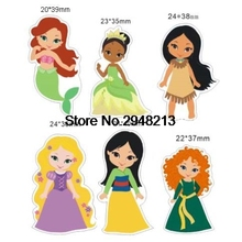 50pcs Mixed Cartoon princess Flatback Resin Planar Cabochon for DIY Craft Embellishments 1.2inch RET1553