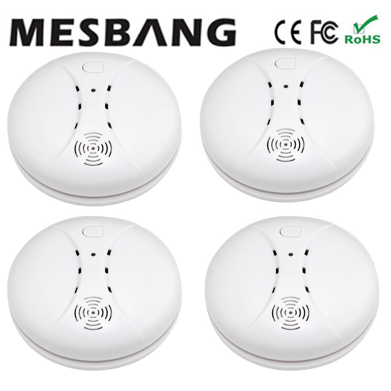 Mesbang wireless smoke detector 433HMZ  Independent smoking sensor for GSM alarm system free shipping