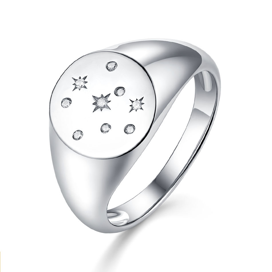 ALLNOEL  925 Stamp Ring Sterling Silver Fashion Big Rings AAA Zircon Stone For Women 2019  Ladies Party Gift Lord Of The Rings