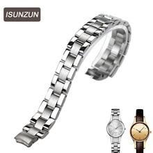 ISUNZUN High Quality Watch Band Womens Best Chrismas Gift Whachband For CK K4323100 Steel Strip Women 10MM Brand Watchband