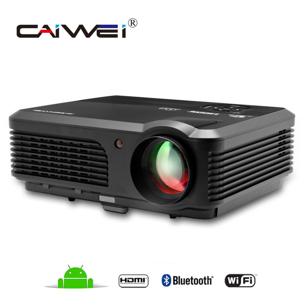 Caiwei Home Use Dvb T2 Projector Led Lcd Digital Tv: CAIWEI HDMI VGA USB DVB T Android 4.4.4 TV Projector