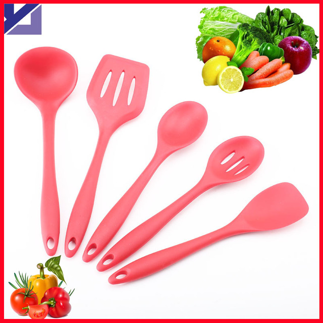 FDA Approved Silicone Cooking Tools Silicone Kitchen Utensils Set in ...