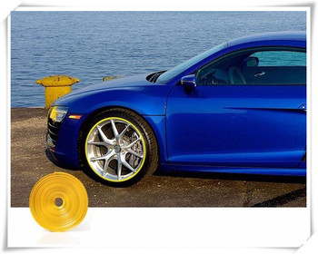 8m Car Styling Wheel Hub Tire Stickers For Volkswagen VW Scirocco 3rd Sharan 1 2 Touran 1 2 Up! Polo 5 6 Car Accessories image