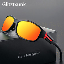 Glitztxunk 2019 New Sports Polarized Sunglasses Men Women UV400 Vintage Square Sun Glasses For Outdoor Eyewear okulary