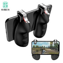 PUBG Gamepad Fire Trigger Button 2 in 1 Mobile Game Controller Phone Gaming Joystick Aim Key Shooter Game Pad Stand