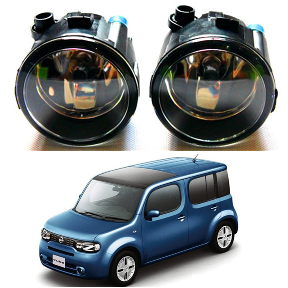 For NISSAN CUBE Z12 Hatchback 2010-2014 high brightness Front bumper halogen fog lights Car styling крышка бензобака для автомобиля nissan cube екатеринбург