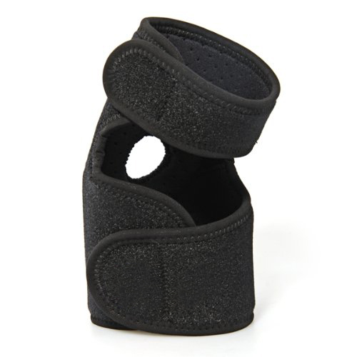 Black Sports Golf Elbow Elastic Pad Brace Support Wrap Adjustable