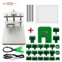 Cadre BDM en acier inoxydable LED programmateur ECU avec sonde 22 adaptateurs pour Ktag KESS V2 Fgtech