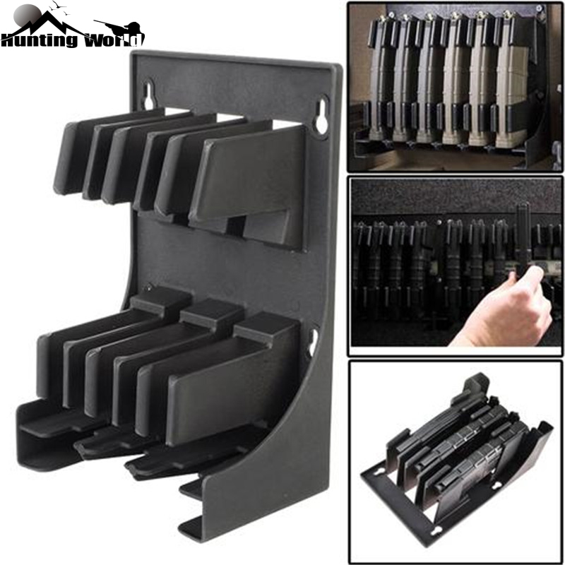 Tactical AR-15 5.56 .223 Caliber Mags MAG Pouch Rack Magazine Storage Holder For 30 Round AR15 Airsoft Hunting Caza