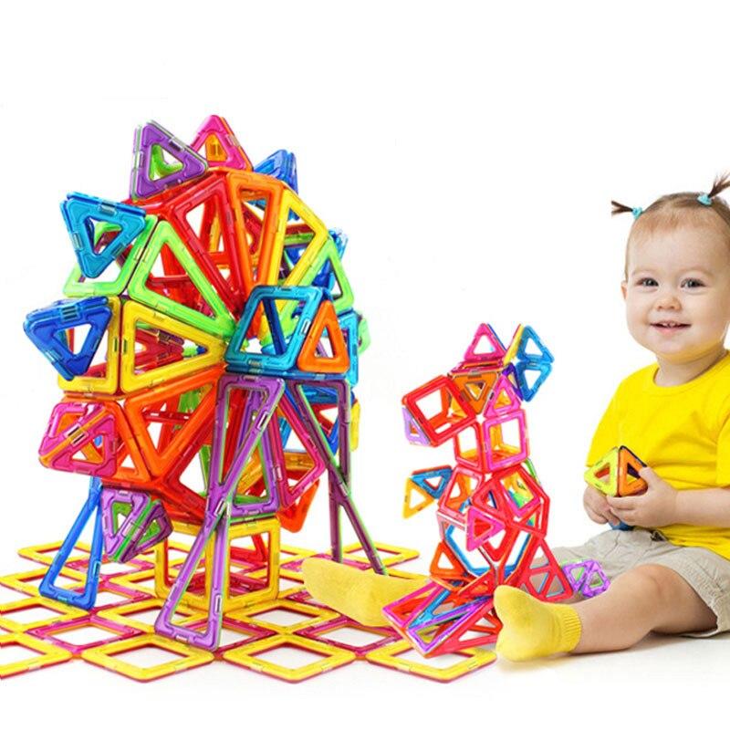 72 pièces 82 pièces 91 pièces 101 PcsBig Size ensemble de construction magnétique garçons filles construction aimants jouet concepteur magnétique pour enfants cadeau