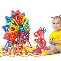 72Pcs 82Pcs 91Pcs 101PcsBig Size Magnetic Constructor Set Boys Girls Building Magnets Toy Magnetic Designer For Children Gift