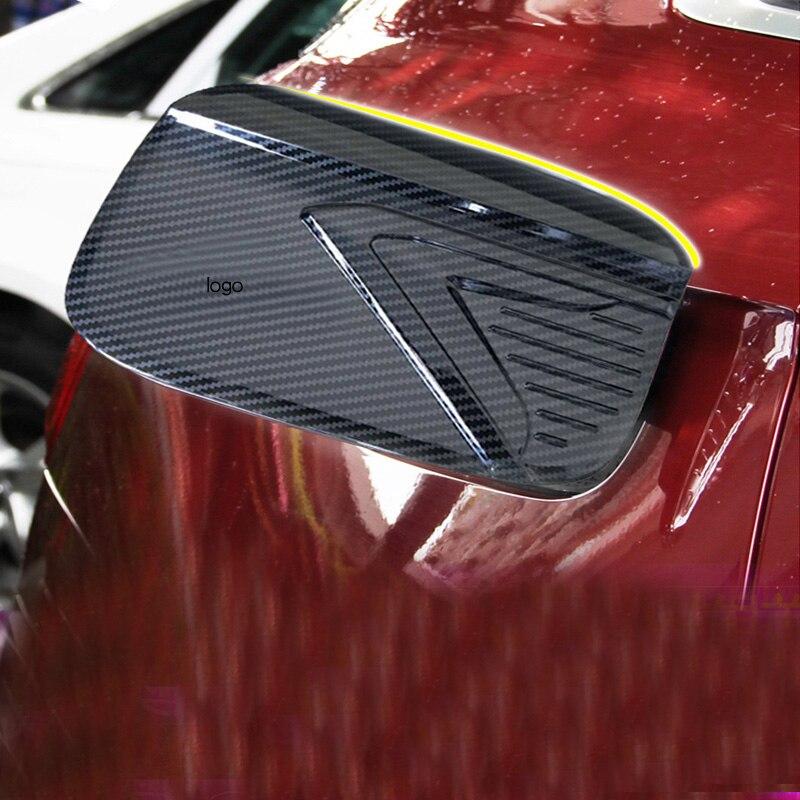Pour Audi Q5 2018 en fiber de carbone autocollants de voiture décoratif cadre corps lumineux bande chrome modifié bouchon du réservoir de carburant autocollants