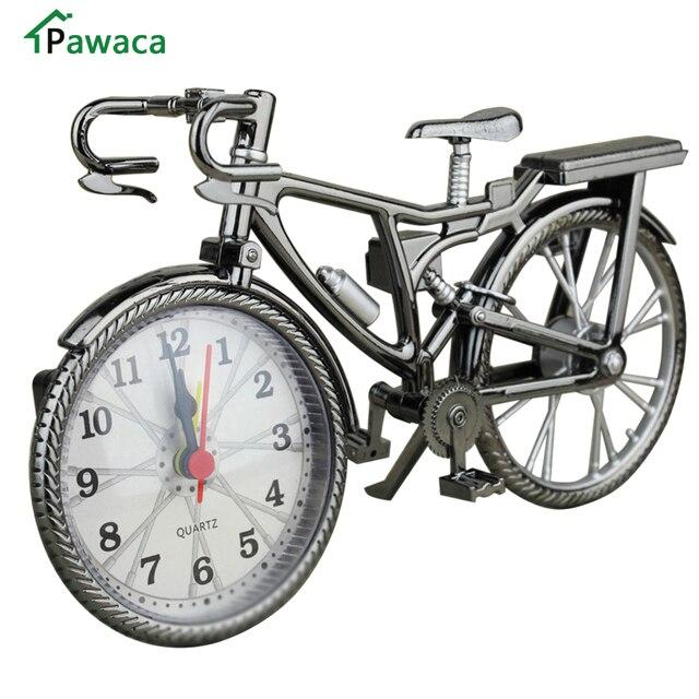 € 7.22 28% de réduction Réveil vélo décoration de la maison Vintage vélo  créatif bureau Table vélo réveil Snooze fonction enfants cadeau ...