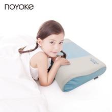 Noyoke 50*30*9-7 cm segura almohada de látex natural de 6-14 años de edad adolescentes estudiante niños de dibujos animados almohada de látex natural