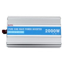 Solarparts 1x 2000W solar inverter PSW 12V/24V DC to 220V/110V AC outdoor RV Marine car home camping off grid solar panel kits