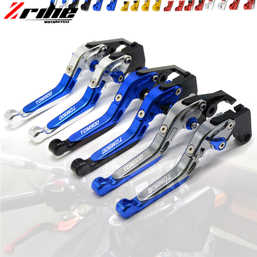 For YAMAHA TDM 900 TDM900 2012 2013 2014 Motorcycle Accessories CNC Billet Aluminum Folding Extendable Brake Clutch Levers