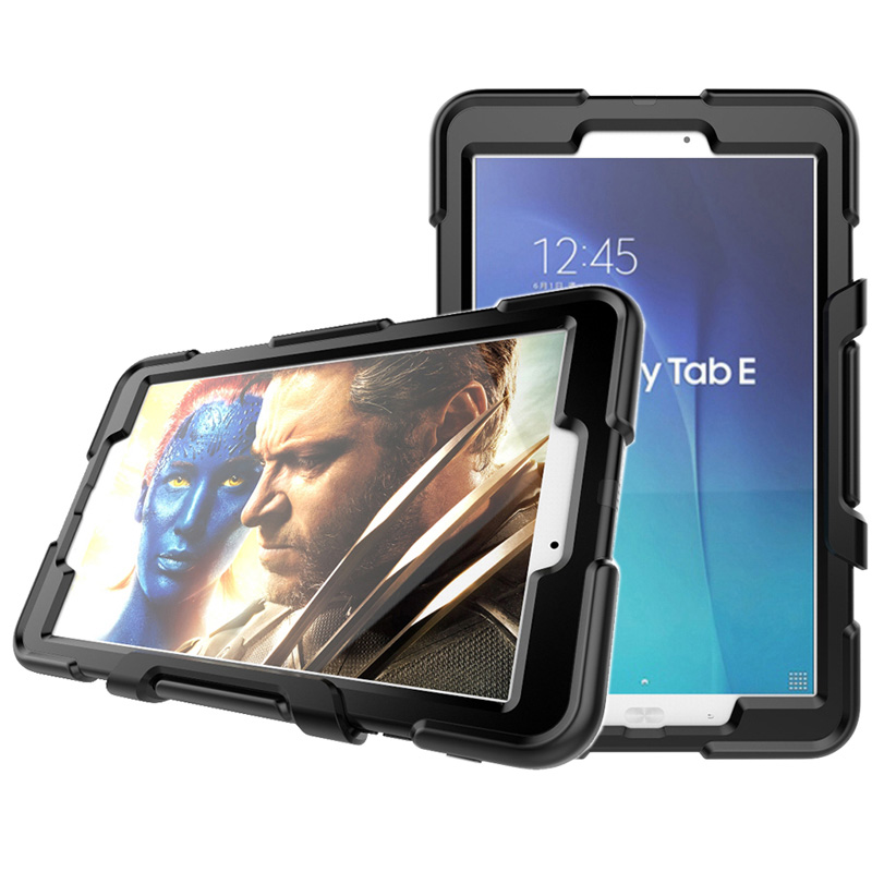 Case for Samsung Galaxy TAB E 9.6 SM-T560 SM-T561 9.6inch Silicone and PC Hard Tablet Case Shockproof Heavy Duty Armor Cover дырокол deli heavy duty e0130
