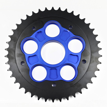 Motorcycle Parts Rear Sprocket and Carrier 42T for Ducati 848 2012-2015 916 996 2004-2006 1000 2004-2009 1000S 2005-2009 circle
